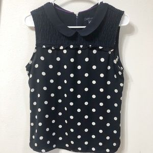 Tommy Hilfiger Navy blue polka dot shirt